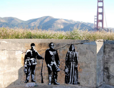 Blek-le-Rat-in the middle
