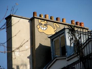 monsieur-chat-street-art-paris-roof-top