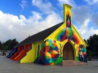 Okuda-church-Mirages-to-the-Freedom-street-art