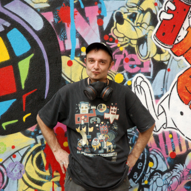 Speedy Graphito street art portrait