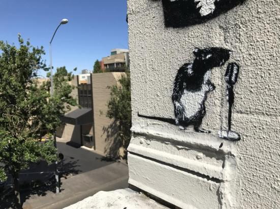 Stencil-Blek-le-Rat street art