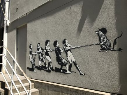 Stencil-Godfather-Blek-le-Rat street art