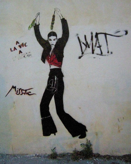 street art miss tic pochoir